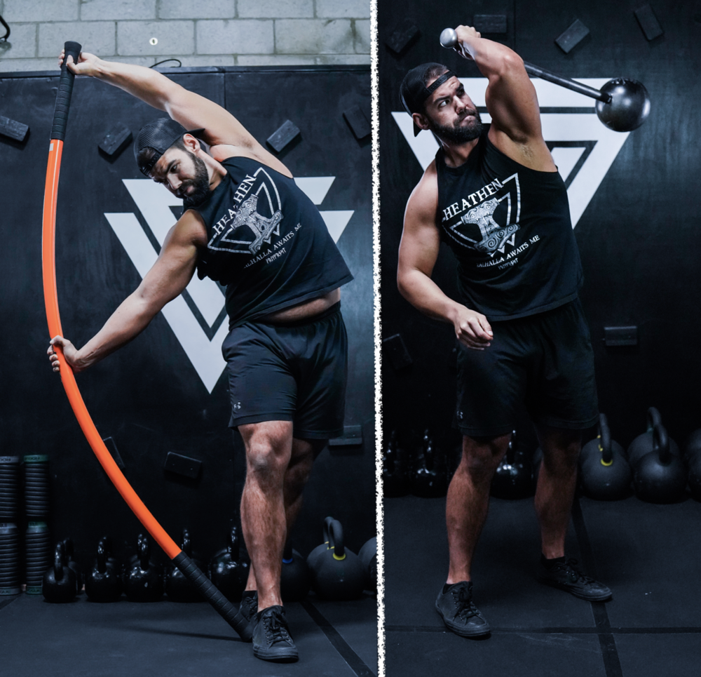 The Stick Mobility Bow & Arrow is a MUST for me after swinging that 16KG/35LB Mace…one handed